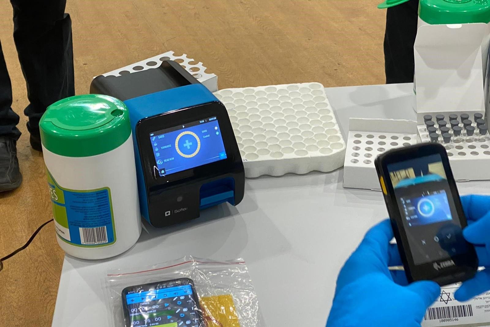התאחדות התעשיינים החלה בפריסת מכשירי סופיה במפעלים חיוניים לבדיקת קורונה מהירה תוך 15 דקות